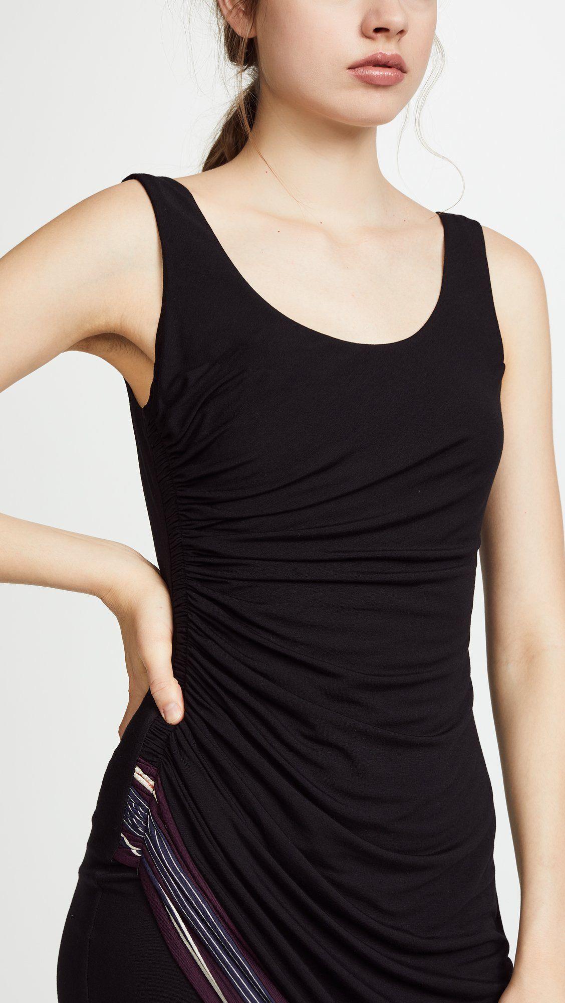 ruched side dress black