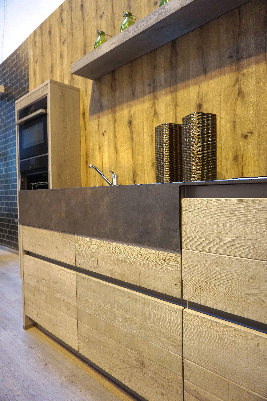 Timber veneer kitchen tambour doors tambortech - Innovative New Timber Veneers Noted For 2016 At Kbb Birmingham Wide Slab Timber Veneer