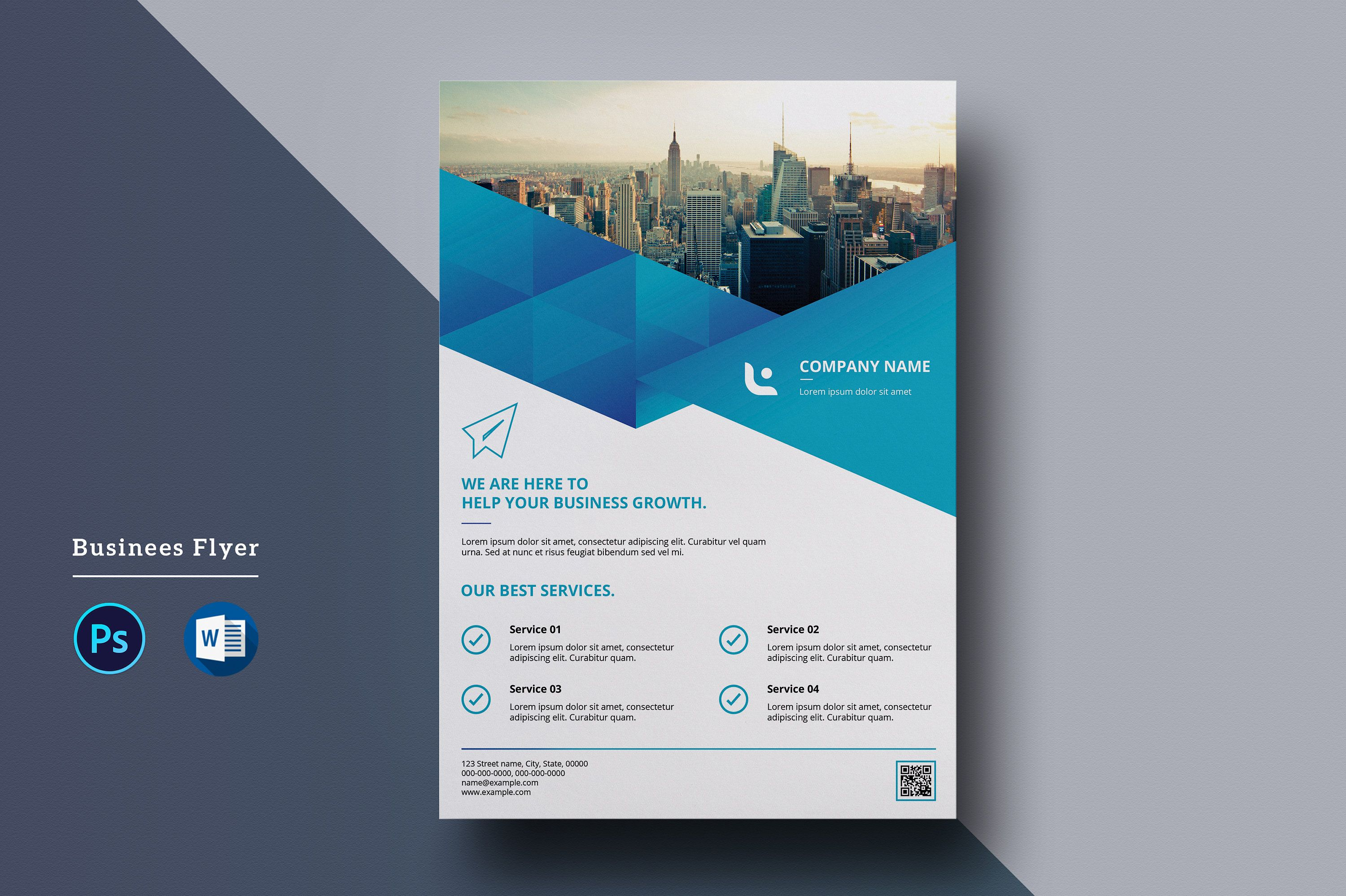 Corporate Flyer Template A4 Business Flyer Ms Word And Etsy Business Flyer Templates Corporate Flyer Flyer Template