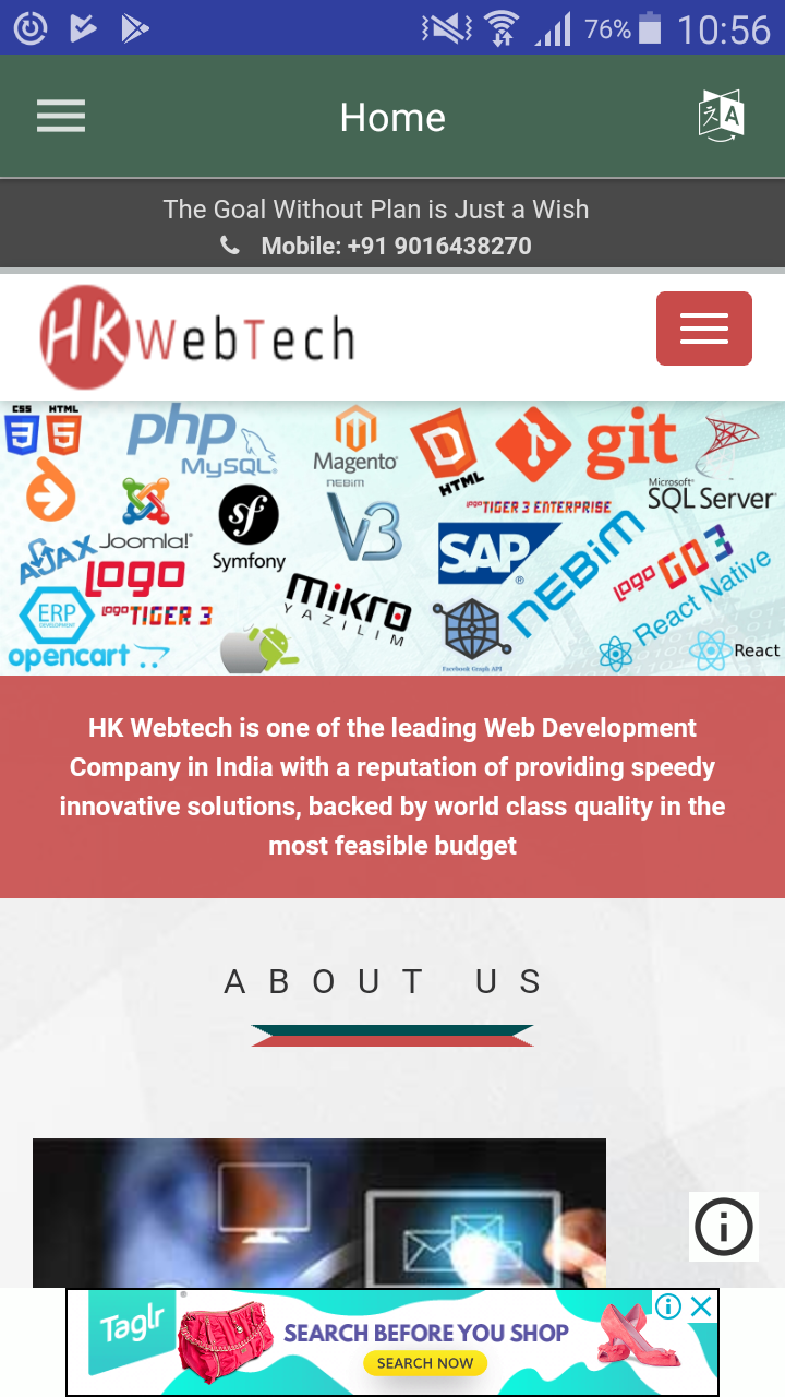 Dynamic Webview Store Listing Android Java Android