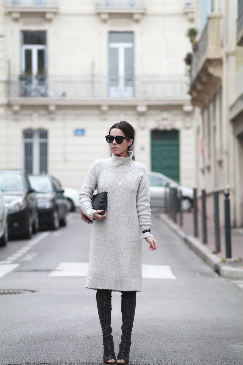 Robe pull blanc leopard