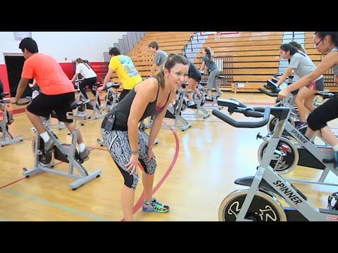 free full hour online spin® class video with cat kom from