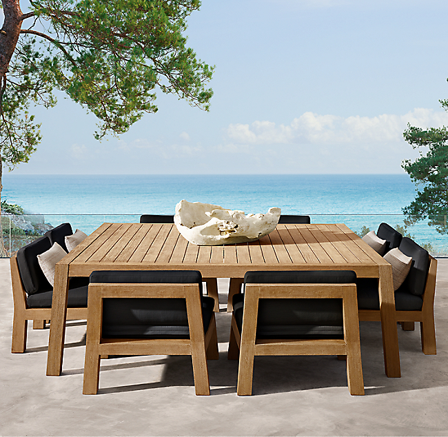 Bonaire Square Low Dining Table In 2020