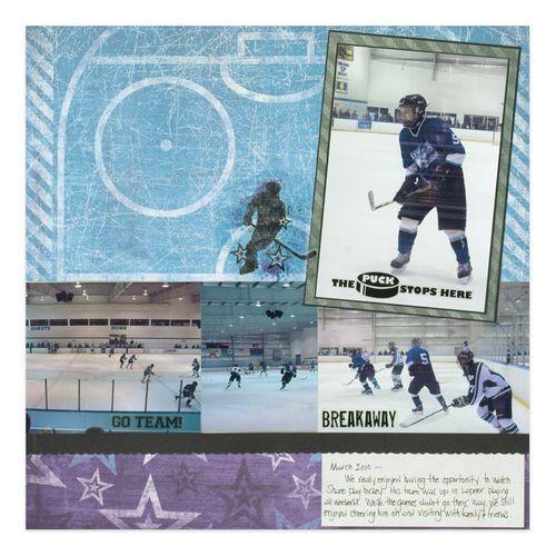 Hockey Scrapbooking Layout from Creative Memories