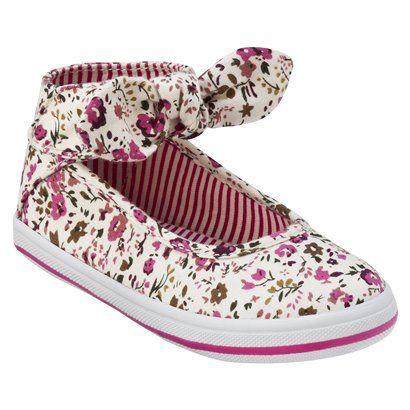 Toddler Girl's Circo® Danya Ankle Wrap Canvas Shoe - Cream.