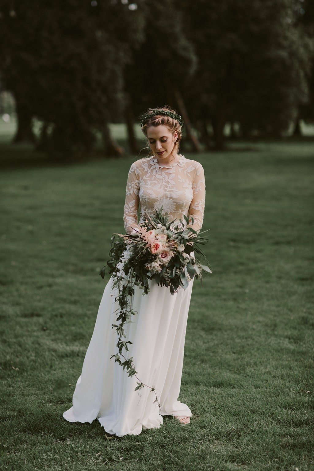826d60673b1b 13 Real Brides in Long Sleeved Wedding Dresses | Brides | Weddings ...
