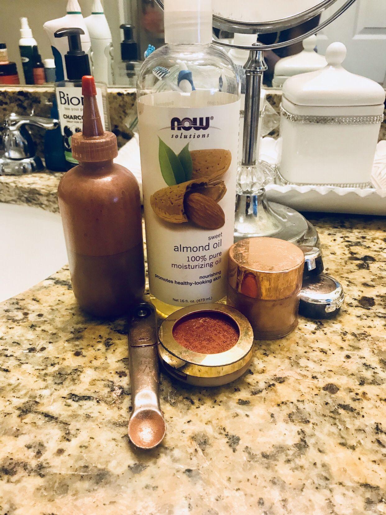 Diy fenty body lava shimmer body oil diy beauty items