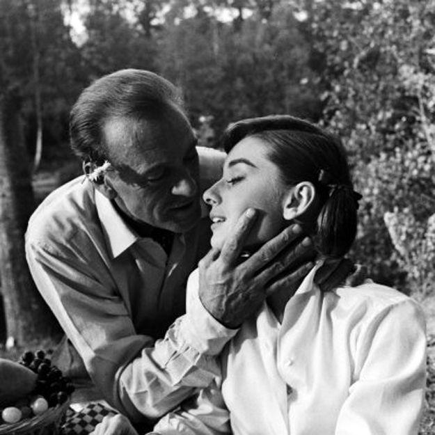 Audrey Hepburn and Gary Cooper