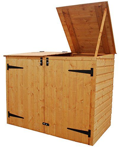 10 Outdoor Garbage Can Storage Ideas 2020 A Nest With A Yard In 2020 Shed Storage Garbage Can Storage Shed Plans