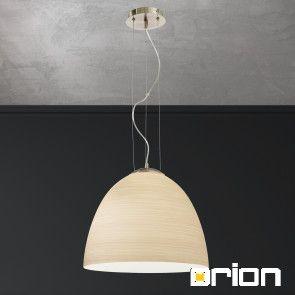 Cone pendant light, satin chrome finish with marron coloured glass, 40cm
