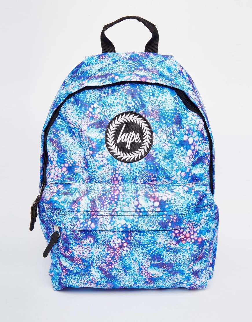 Image 1 of Hype Backpack with Blue Bubblegum Print