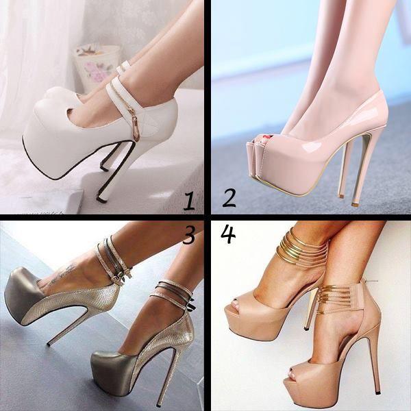 Shoespie Patent Leather High Platform Peep-toe Heels