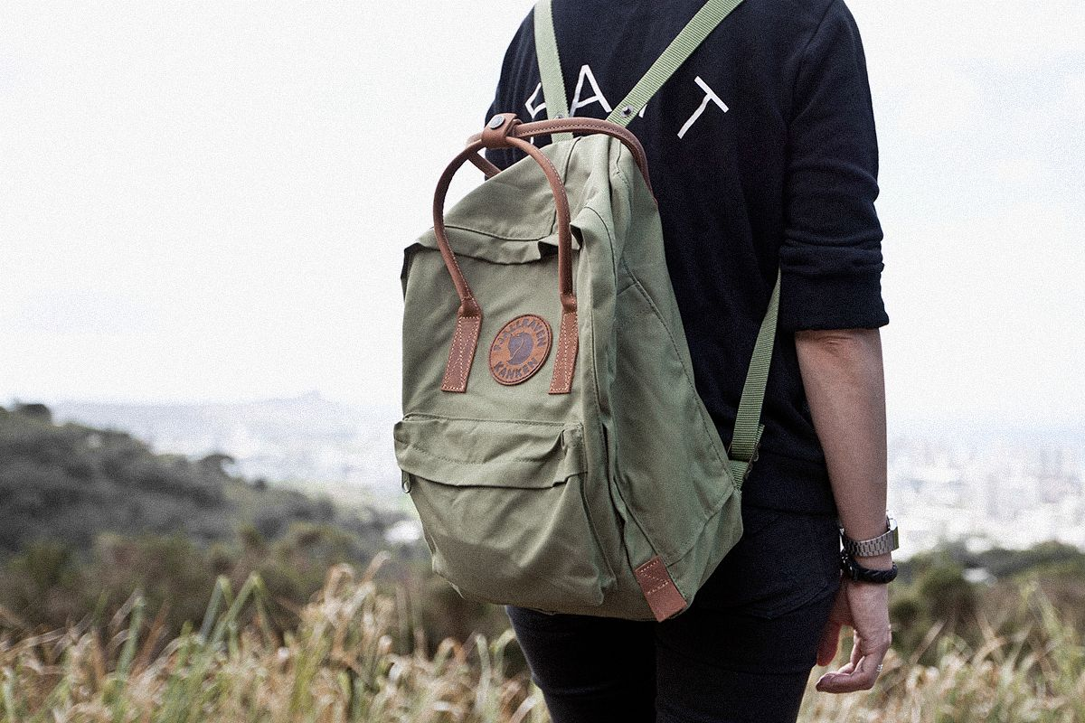 Kanken No. 2. Made with durable G-1000 heavy duty material and leather  accents. 0f3932c5119d5