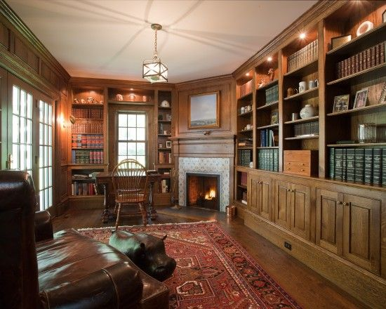 English Library Decor ultimate home library--english country design, pictures, remodel