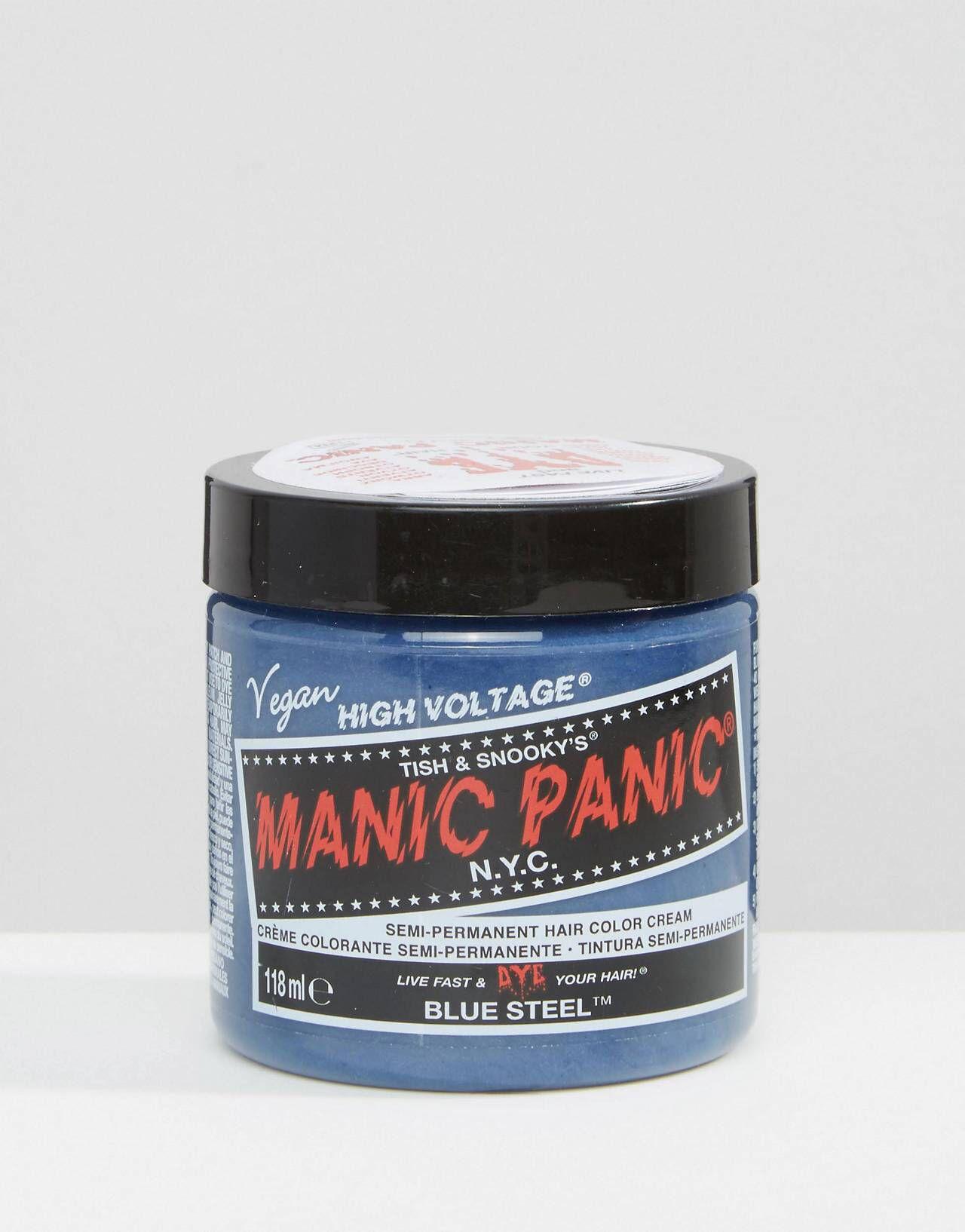 Manic panic nyc classic semi permanent hair color cream blue steel