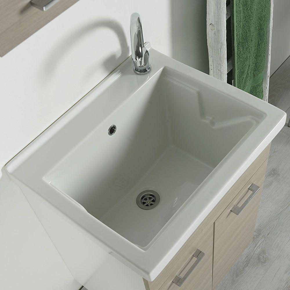 Lavatoio Ceramica Con Mobile.Lavatoio In Ceramica 60x50 Reno Con Mobile Bianco Arredo