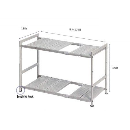 Seville Classics 1193822 Costco Storage Organizer 15x12x2 5