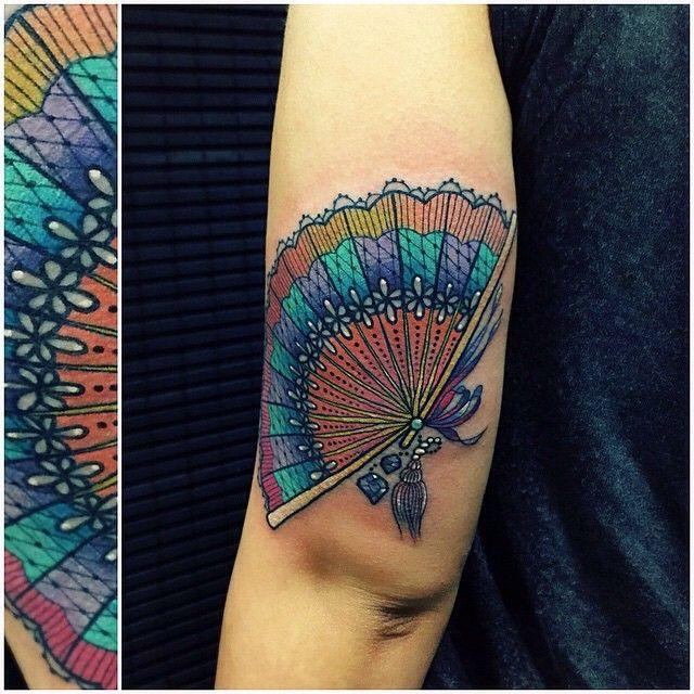 japanese hand fan tattoo - Google Search | Fan tattoo