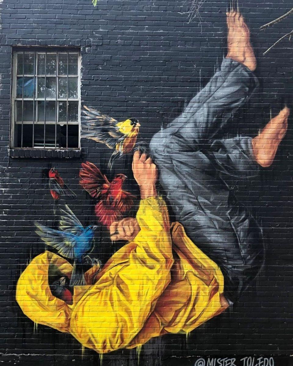 Streetart Mister Toledo Memphis, USA nel 2020 Street
