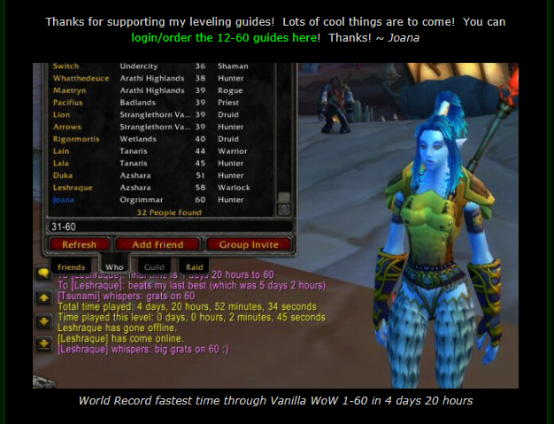 Joana S Classic Wow 1 60 Leveling Guides Who Made This Leveling Guide The Vanilla Wow Horde Leveling Guide You See On This Leveling Guide Wow Leveling Guide