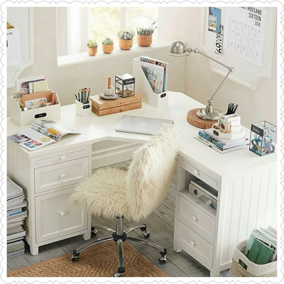 desk home summer girls white pin tour areas pinterest sweet