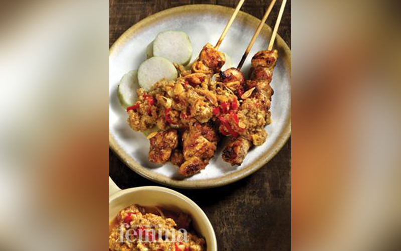 Satai Ayam Bumbu Oncom Resep Ayam Resep Ayam