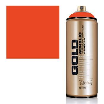 Montana Gold Spray Paint, Matte Acrylic Color: Red Orange