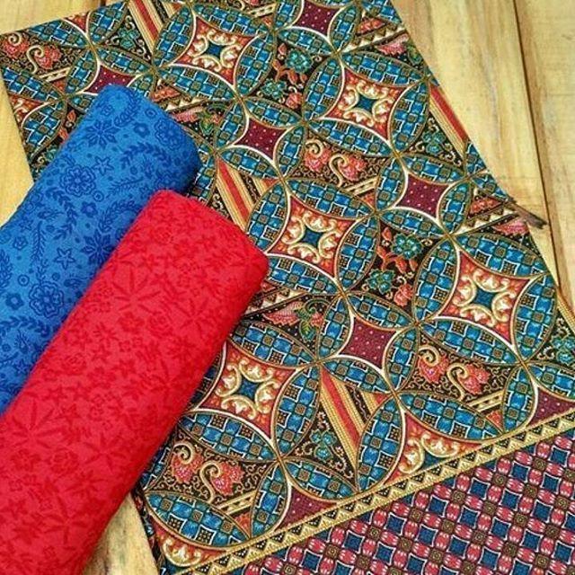 BATIK DARIS PEKALONGAN kain Batik dan embos    Ukuran kain
