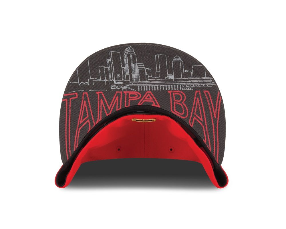 Cheer on your Buccaneers with this year s New Era On-Stage Draft hat. The  underbrim features a stencil graphic of the Tampa skyline! 3739bac4dc3