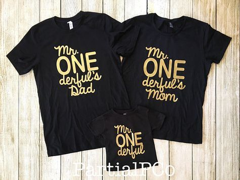 Mr ONEderfuls Mom Dad Team ONEderful Baby Boy First