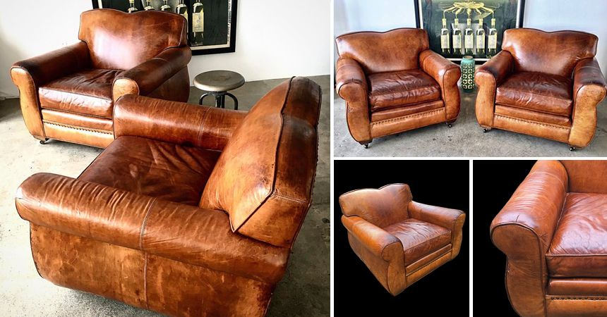 Stunning Leather Club Chairs - IN STOCK! - $795 each @ A Life Designed! www.randysloan.com