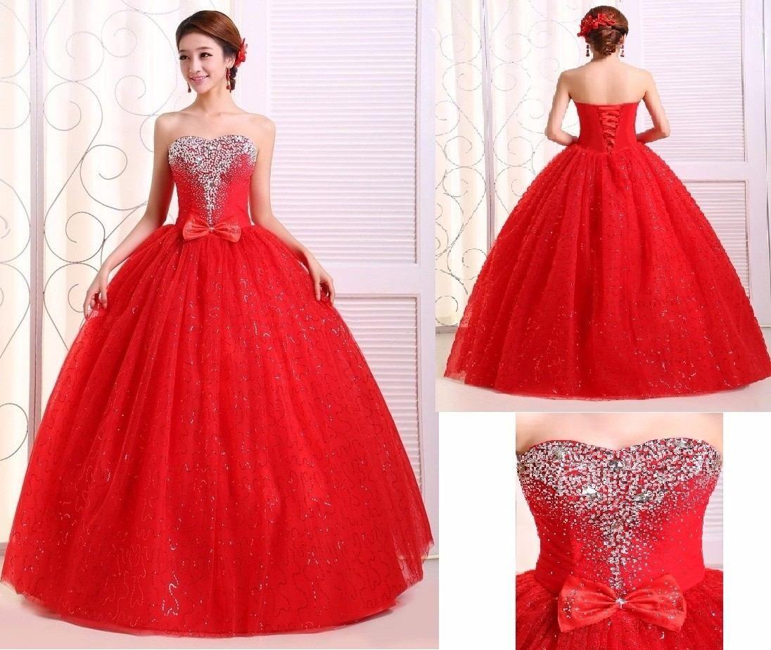 Por Encargo!$ 5700.-vestido De 15 Años, Rojo Soñado Oferta - $ 5.700,00 en MercadoLibre