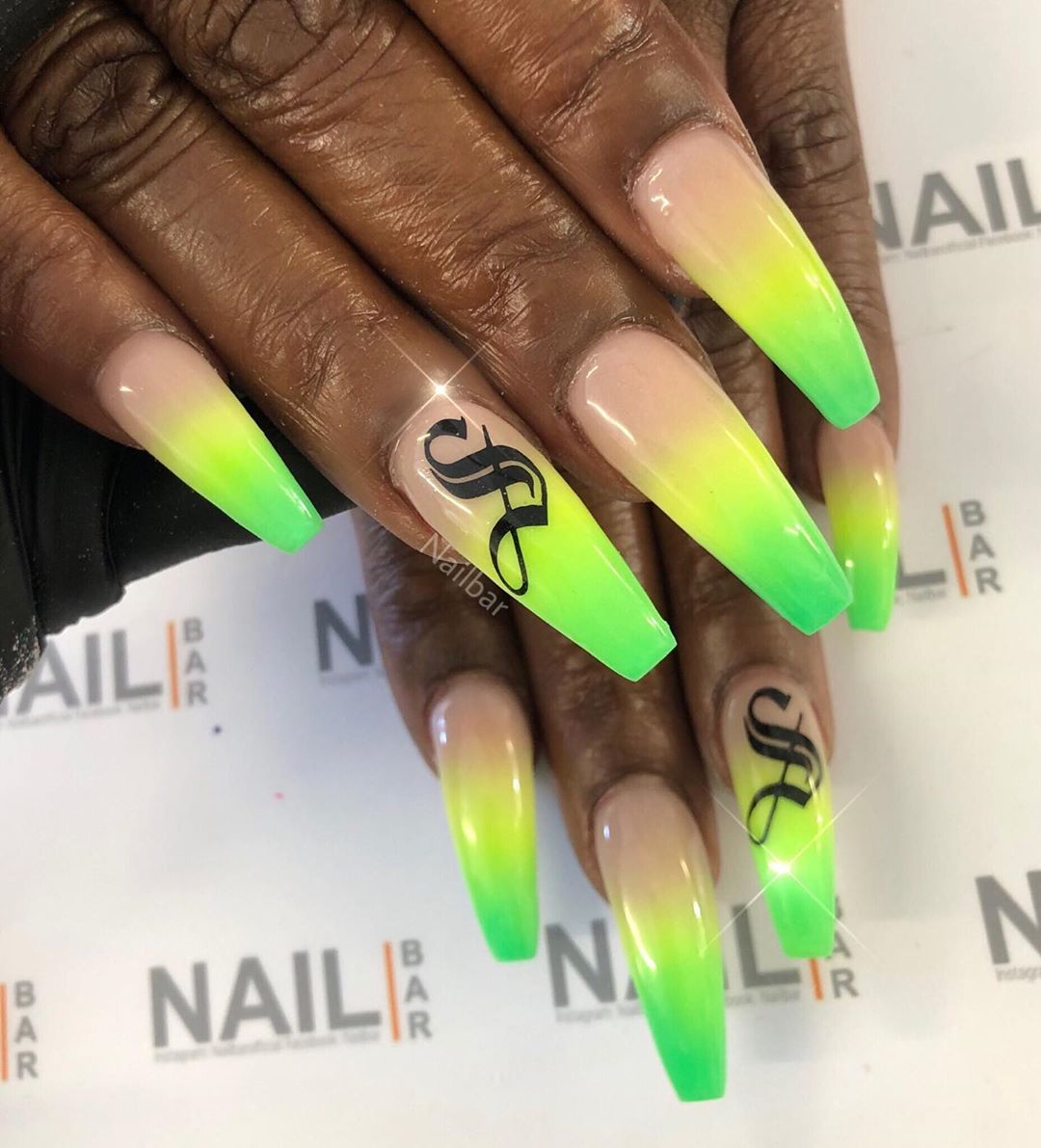 Carnival Glow Nails Lold English Letters From Kpcreatemyvision With Glow Powder From Designsbyvnailart Prayforannie Nailar Carnival Nails Glow Nails Nails