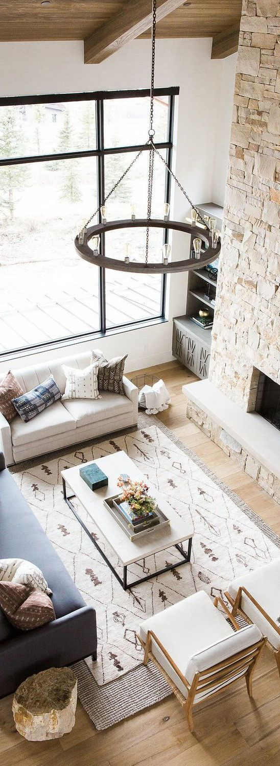 Modern Mountain Home | Modern, Living rooms and House