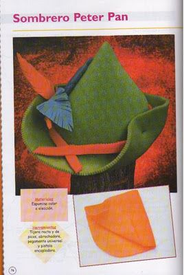 Como hacer el sombrero de Peter Pan para disfraz - Disfraz casero ... ee7c99dc5b6
