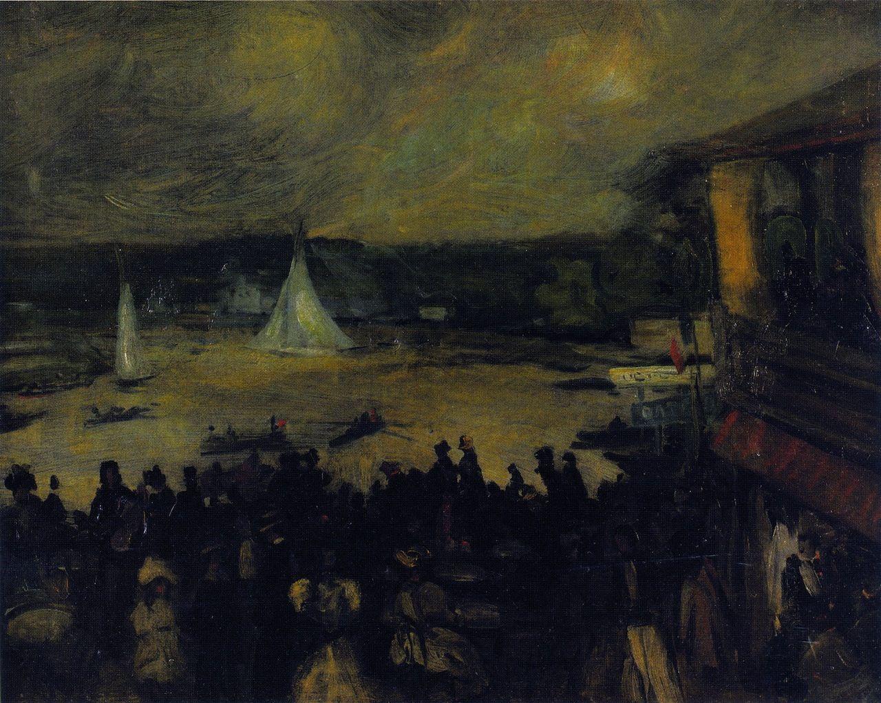 William Glackens  Sailing Boats, Paris