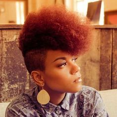 24 Red Hair Color Trends and Styles | Natural, Short natural hair ...