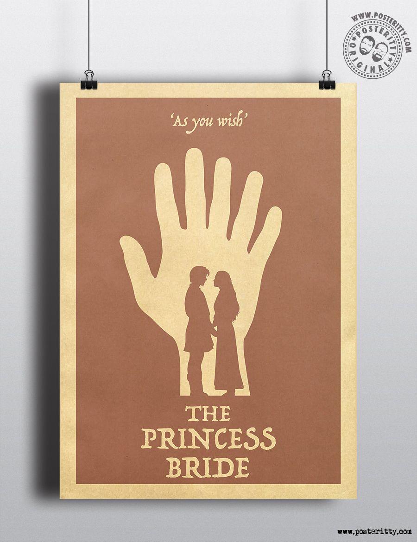 As you Wish Minimalist Movie Poster Minimal Posteritty Art THE PRINCESS BRIDE