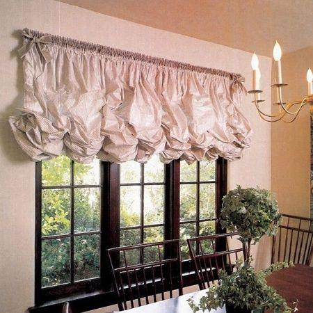 10 видов кухонных штор для кухни | Шторы, Оформление окон ...