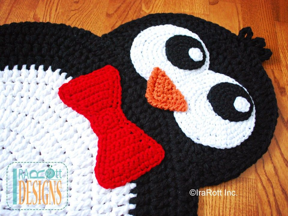 Floppy The Penguin Rug PDF Crochet Pattern | gehäkelte Teppiche ...