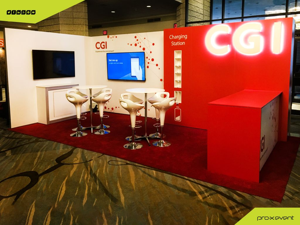 CGI's custom trade show event booth for Payments Canada