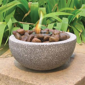 High Quality The Deeco Rock Stone Tabletop Gel Fire Bowl   Adds Subtle Warmth And  Ambiance To Your Outdoor Living Space.