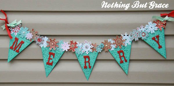 like how the snowflakes go all the way across the banner - new PTI snowflake melody stamps and dies