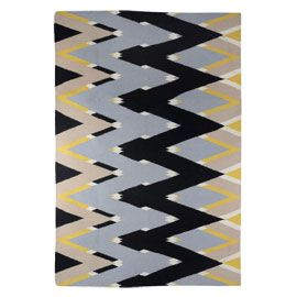 Michelle Mason Zig Zag Yellow Rug With Images Yellow Rug Rugs Contemporary Modern Furniture