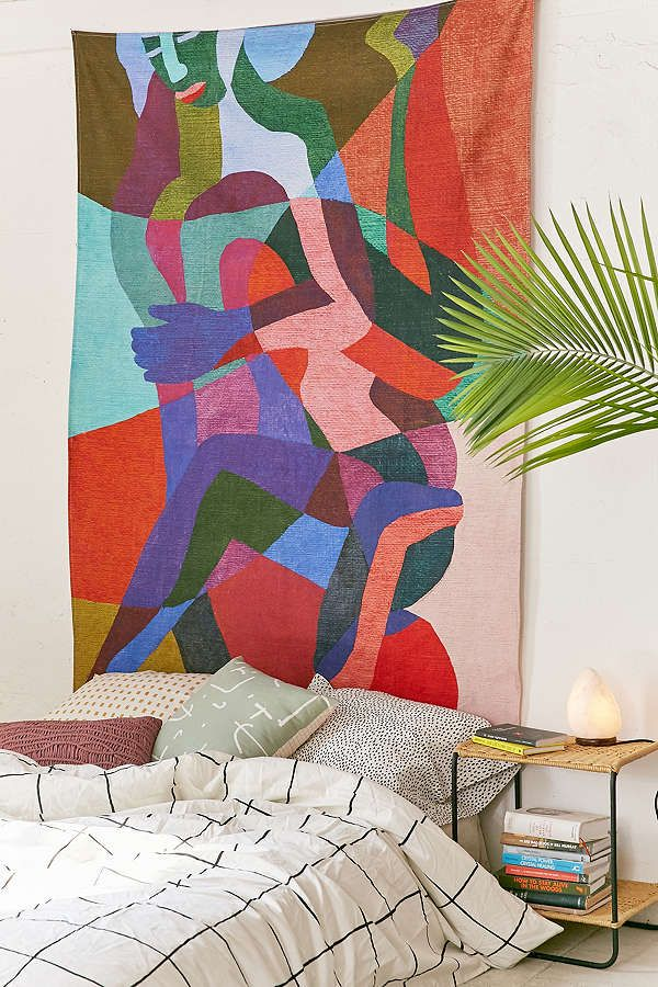 Ines Longevial Abstract Art Tapestry