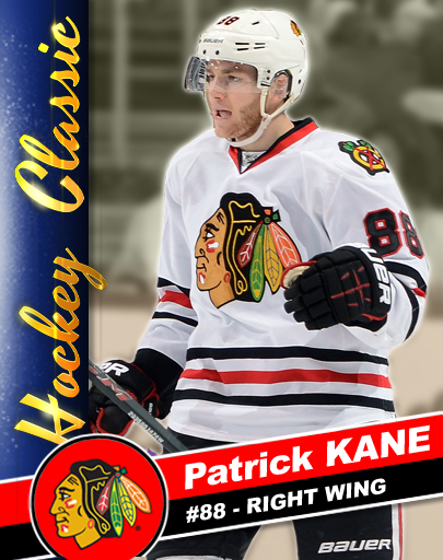 You Can Collect Kane Cards In Patrick Kane S Hockey Classic Here S 8 Two Timer Patrick Kane Hockey Hockey Players Field Hockey