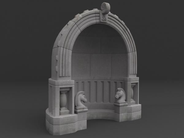 Fantasy Stone Alcove - 3D Model - ShareCG