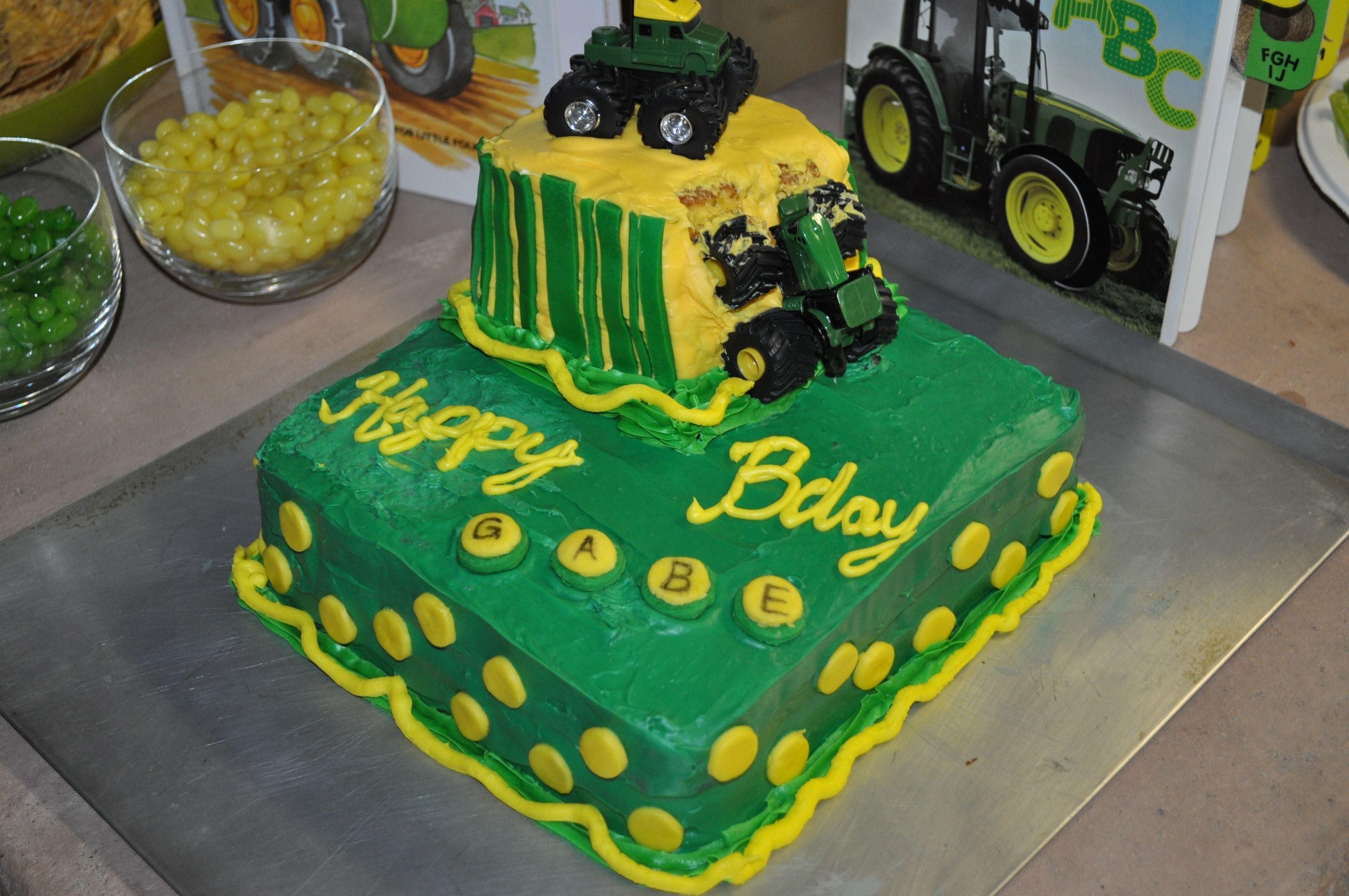 Tractor Birthday Cake I Made For Gabes 2nd Bday Random