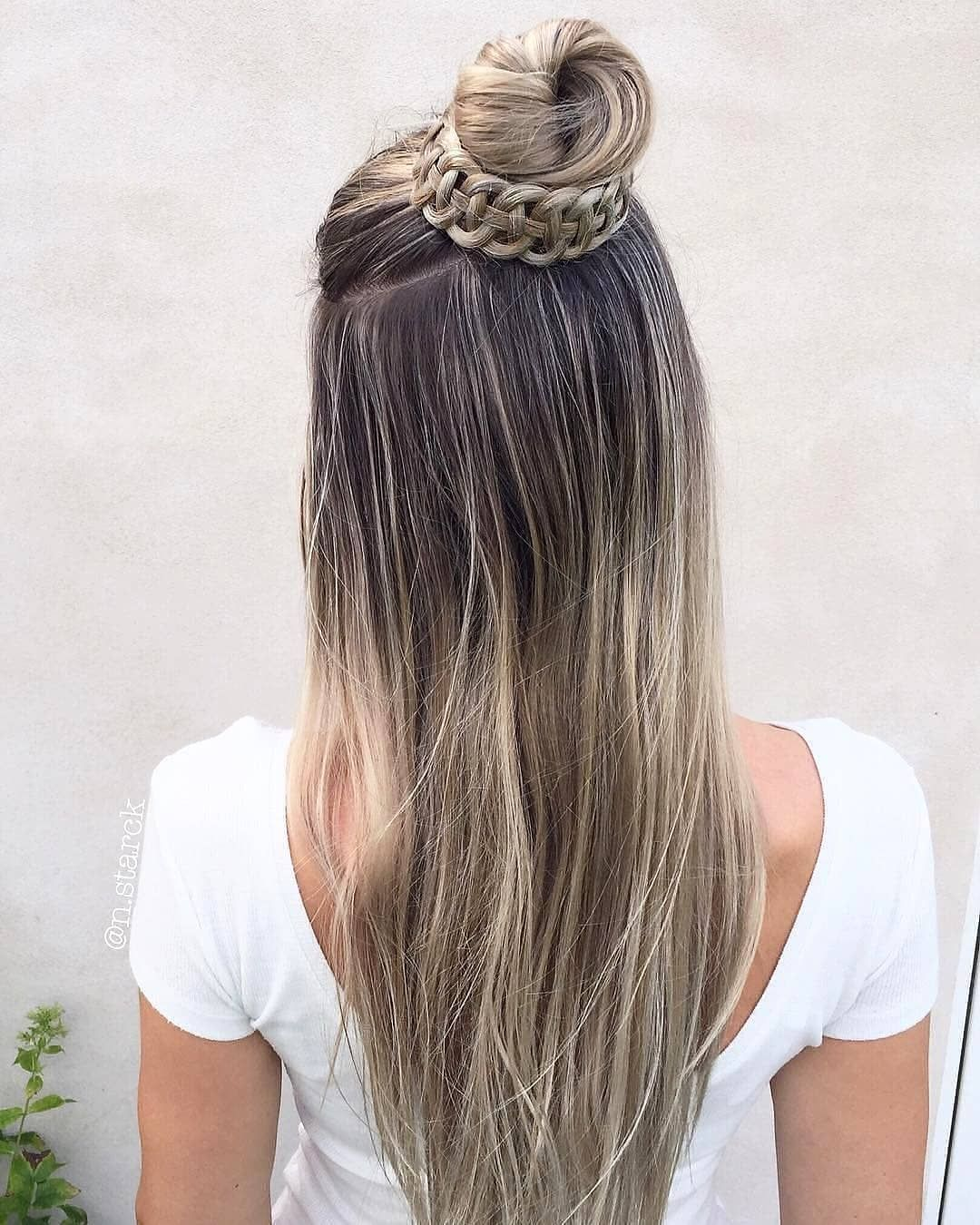 30 Creative And Unique Wedding Hairstyle Ideas: Ombre Hair Blonde, Hair Styles
