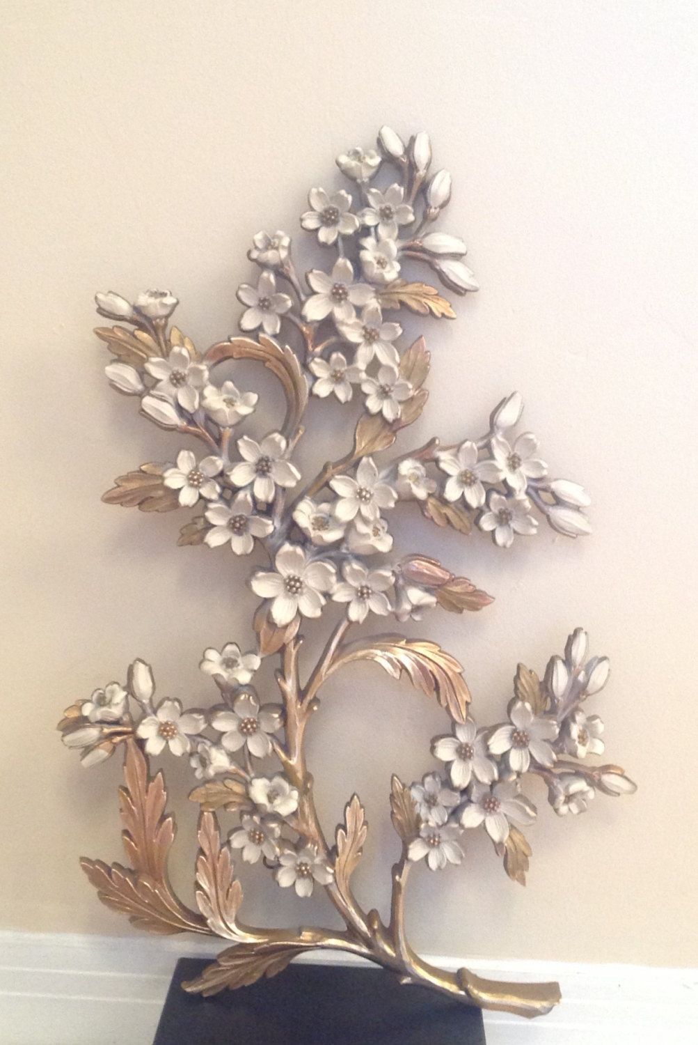1967 Syroco Made In U S A Wall Hanging Hollywood Regency Vintage Gold And Ivory No 7064 18 Tall Wall Hanging Faux Wood Wall Gold Walls
